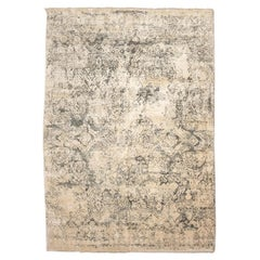 Contemporary Rug of Abstract Design in Beige and Gray Tones