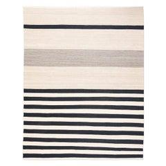 Contemporary Handmade Flat-Weave Following Patterns of Kilims Persian Mazandarán