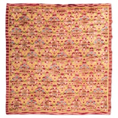 Antique Spanish Rug of 1972, Spanish Design Inspired in Foundation of Guilds