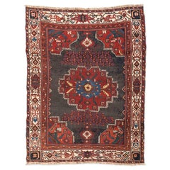 19th Century Antique Persian Rug from the Afshar Region, Red and Blue Shades