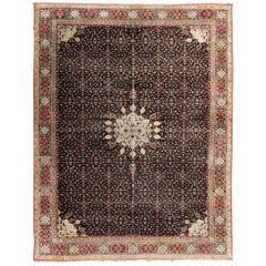 19th Century Antique Agra Rug with Central Medallion Design, circa 1890