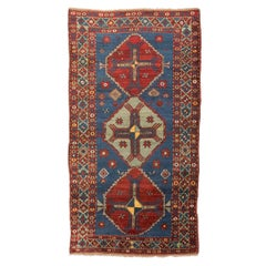 Late 19th Century, Caucasian Wool Rug, Kazak, Geometric Design, circa 1890