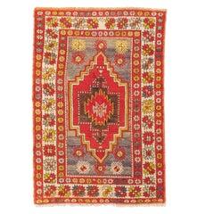 20th Century Turkish Wool Rug Anatolia Geometric Design, circa 1920