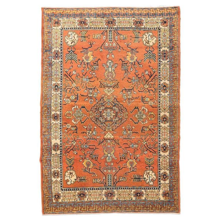 20th Century Samarkand Wool Rug, Kothan Design, circa 1900 For Sale