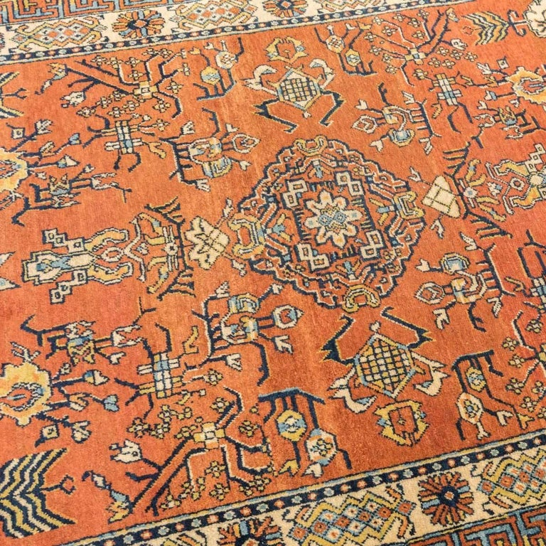 Central Asian 20th Century Samarkand Wool Rug, Kothan Design, circa 1900 For Sale