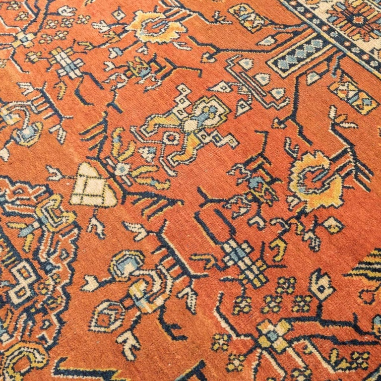 20th Century Samarkand Wool Rug, Kothan Design, circa 1900 For Sale 1