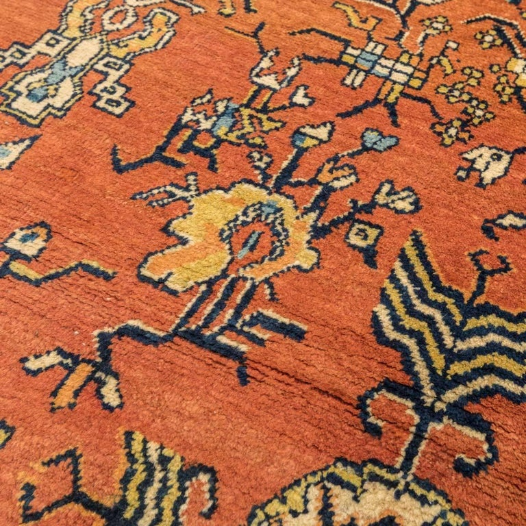 20th Century Samarkand Wool Rug, Kothan Design, circa 1900 For Sale 3