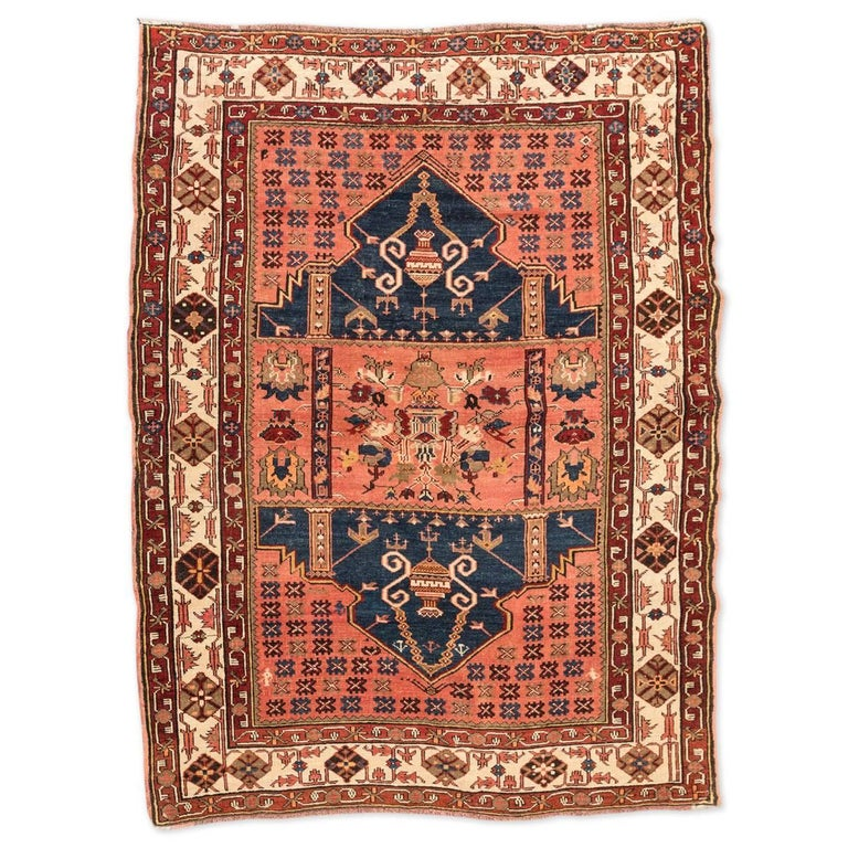 20th Century Antique Wool Rug, Derbend with Double Niche Design, circa 1920 For Sale