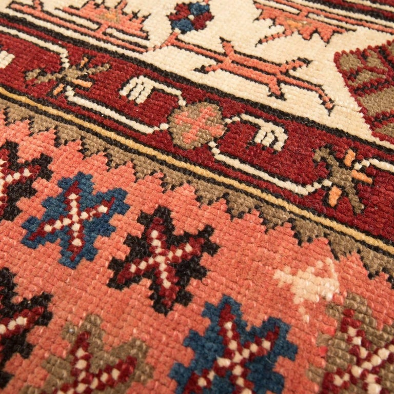 Early 20th Century 20th Century Antique Wool Rug, Derbend with Double Niche Design, circa 1920 For Sale