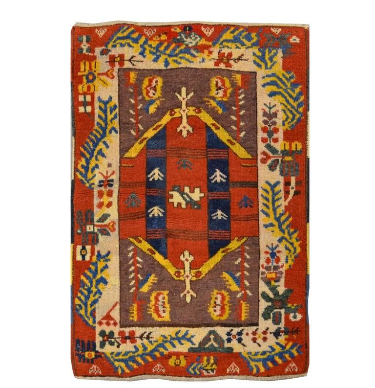 Anatolian Antique Rug. Ethnic Design, circa 1920