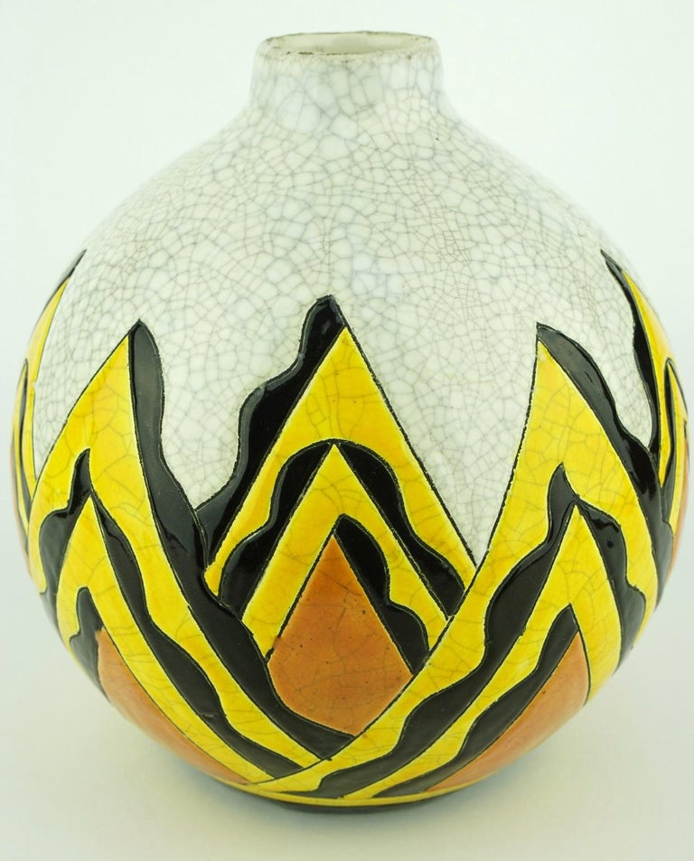 Keramis Boch Abstract Vase For Sale At 1stdibs