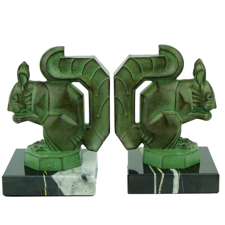 Two French Art Deco Squirrels by Max Le Verrier For Sale