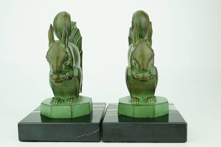 Early 20th Century Two French Art Deco Squirrels by Max Le Verrier For Sale