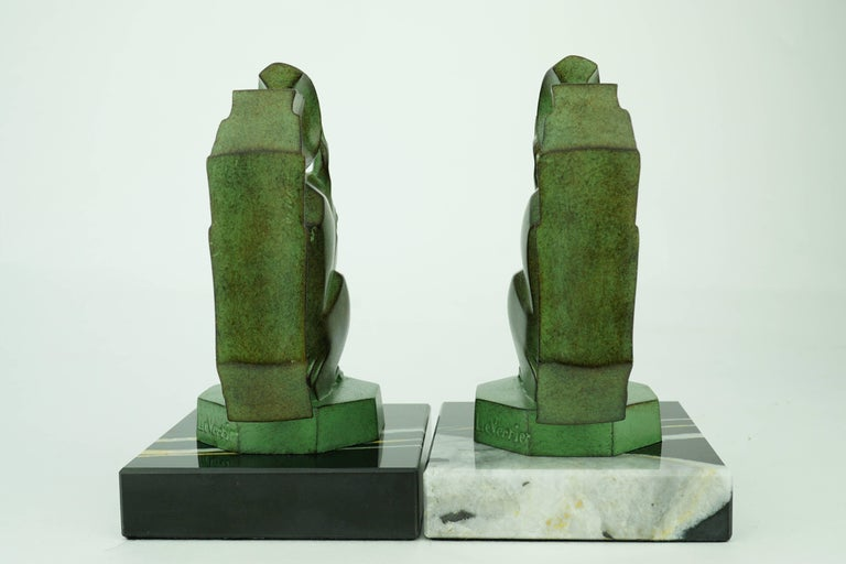 Bronze Two French Art Deco Squirrels by Max Le Verrier For Sale