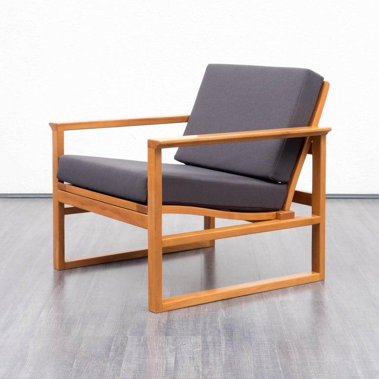 1950s armchair with footrest danish design reupholstered. Black Bedroom Furniture Sets. Home Design Ideas