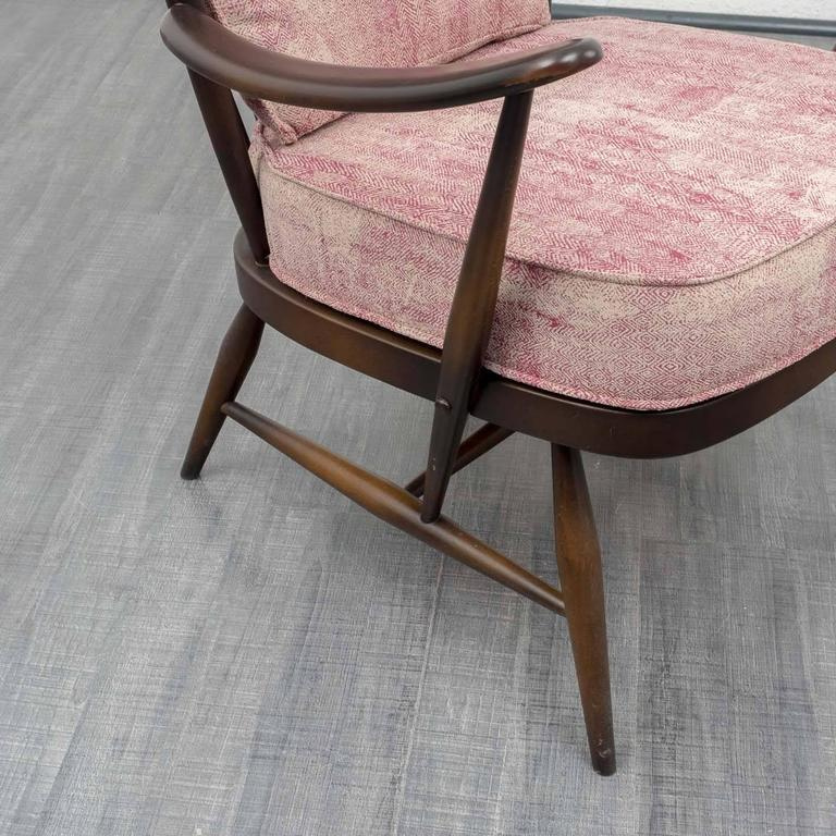 1950s Armchair and Ottoman, L. Ercolani for Ercol, New Upholstery 8