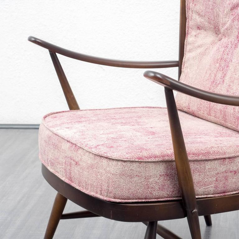 1950s Armchair and Ottoman, L. Ercolani for Ercol, New Upholstery 9
