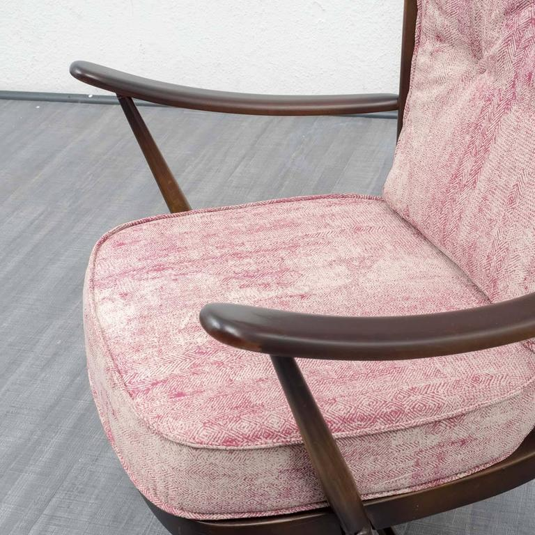 1950s Armchair and Ottoman, L. Ercolani for Ercol, New Upholstery 10