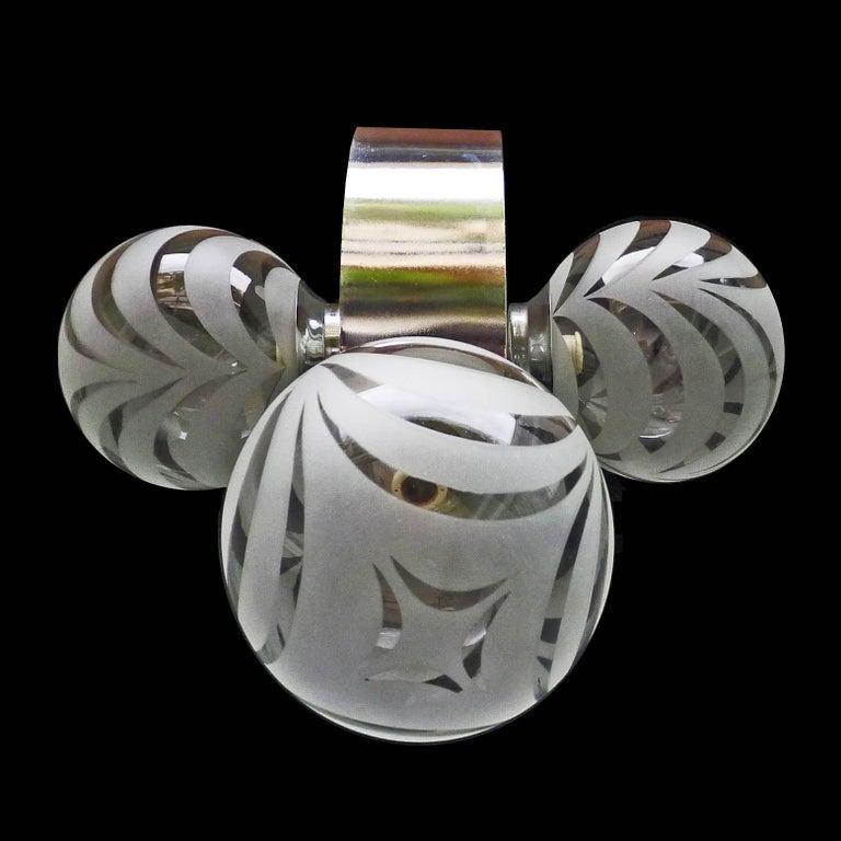 Vintage Moderne Chrome Atomare Space Age Sputnik Orbit Kronleuchter 6
