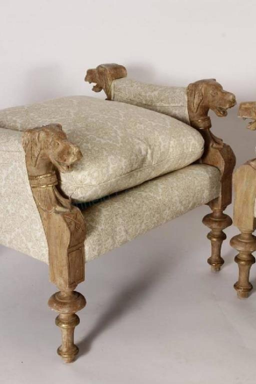 Fabulous set of four victorian style wood carved and