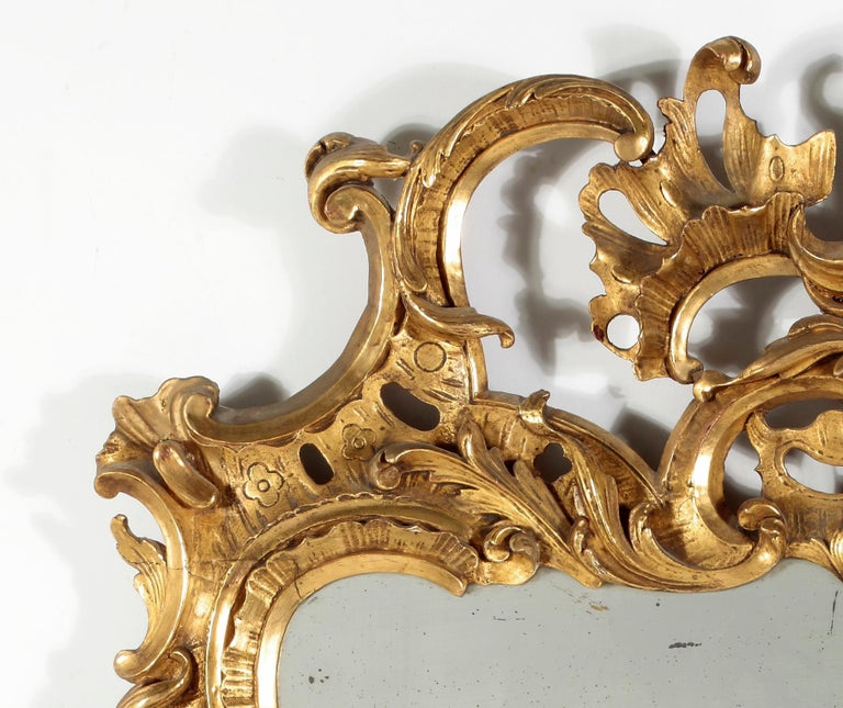 18th Century and Earlier Fine George II Giltwood Mirror For Sale