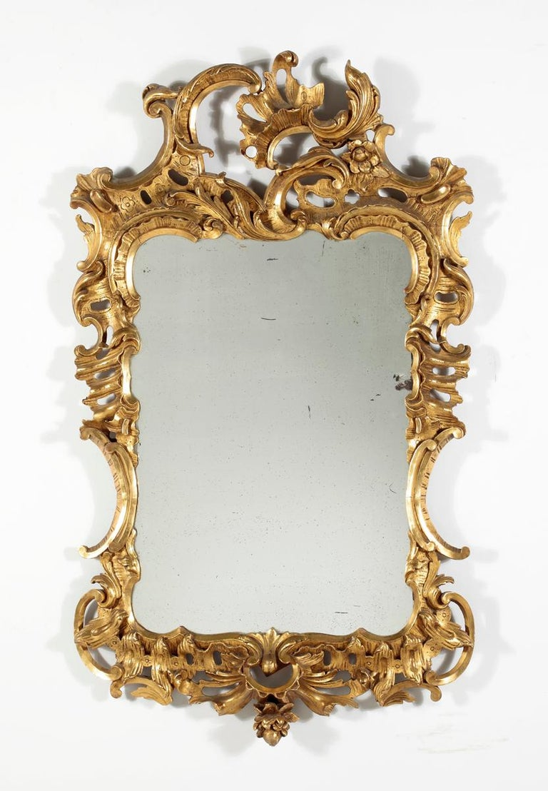Fine George II Giltwood Mirror For Sale 1