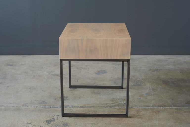 Bleached In Stock - Arte Side Table For Sale