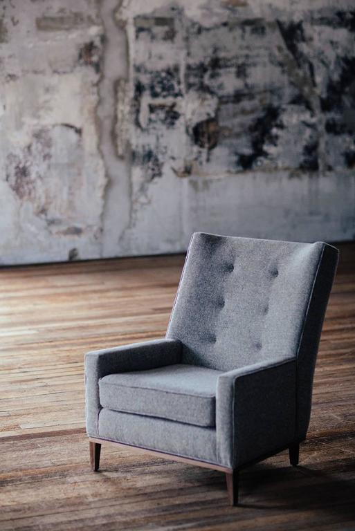 Fabric Lexington Club Chair For Sale