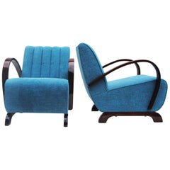Pair of Art Deco Armchairs from Czechoslovakia by Jindrich Halabala