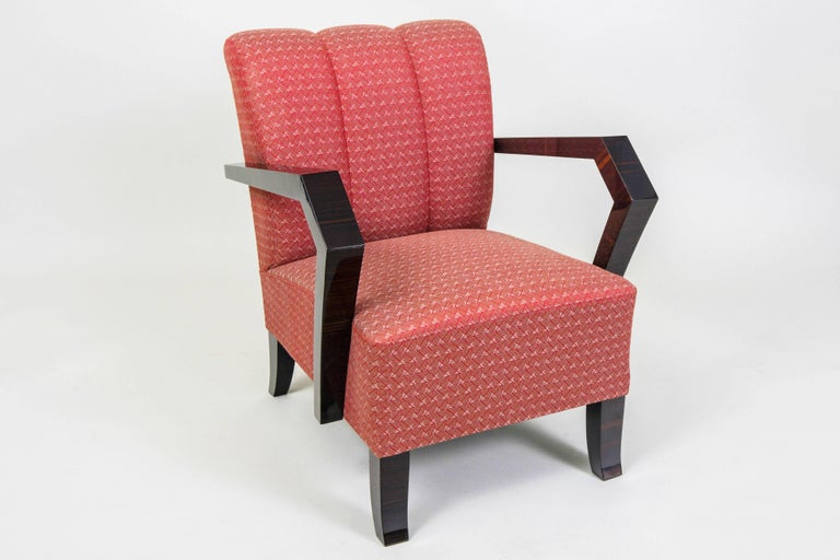 Pair of Art Deco Armchairs from Czechoslovakia For Sale 1
