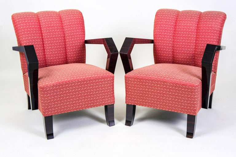Pair of Art Deco Armchairs from Czechoslovakia In Good Condition For Sale In Prague 1, CZ