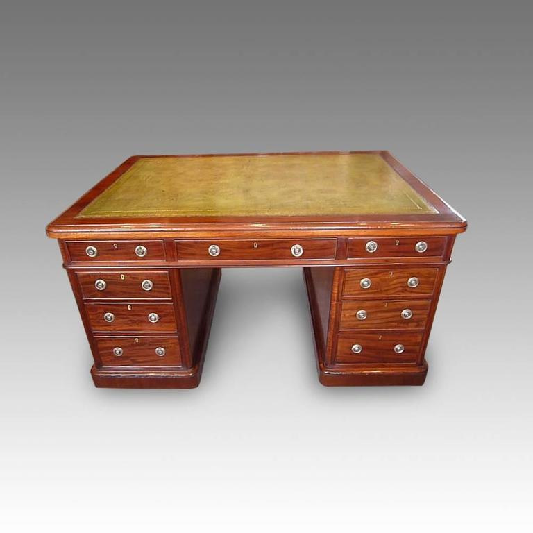 Victorian Mahogany Partners Desk For Sale At 1stdibs