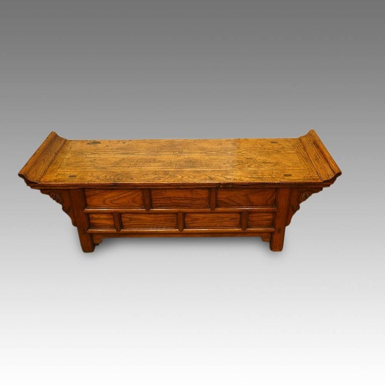 Chinese antique elm low table for sale at 1stdibs for Antique chinese tables for sale