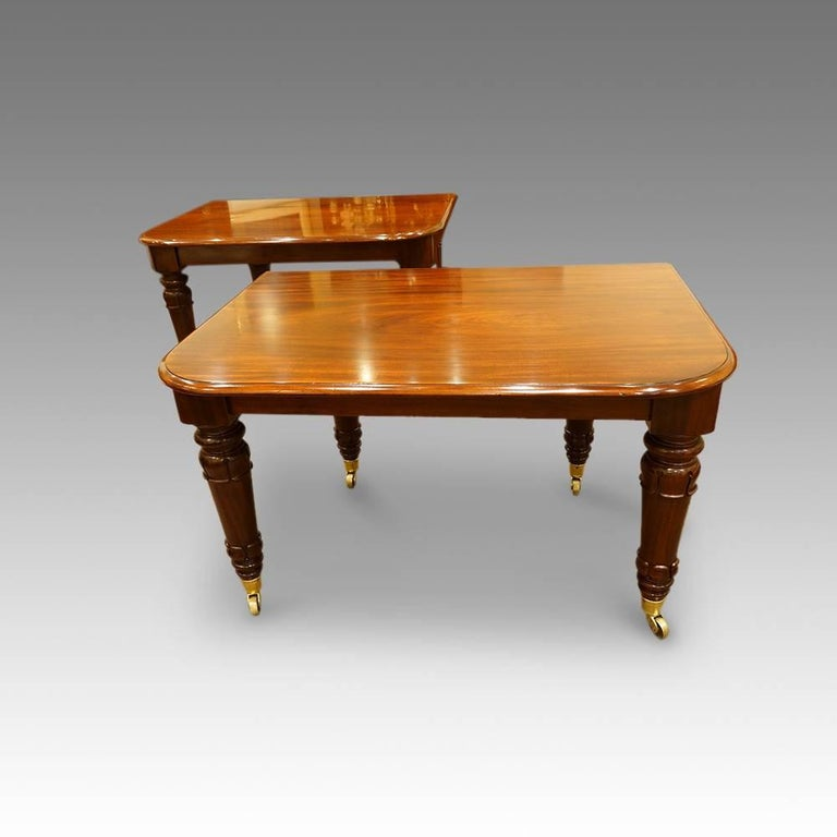 William iv mahogany 16 seat dining table at 1stdibs for Table 6 to 16