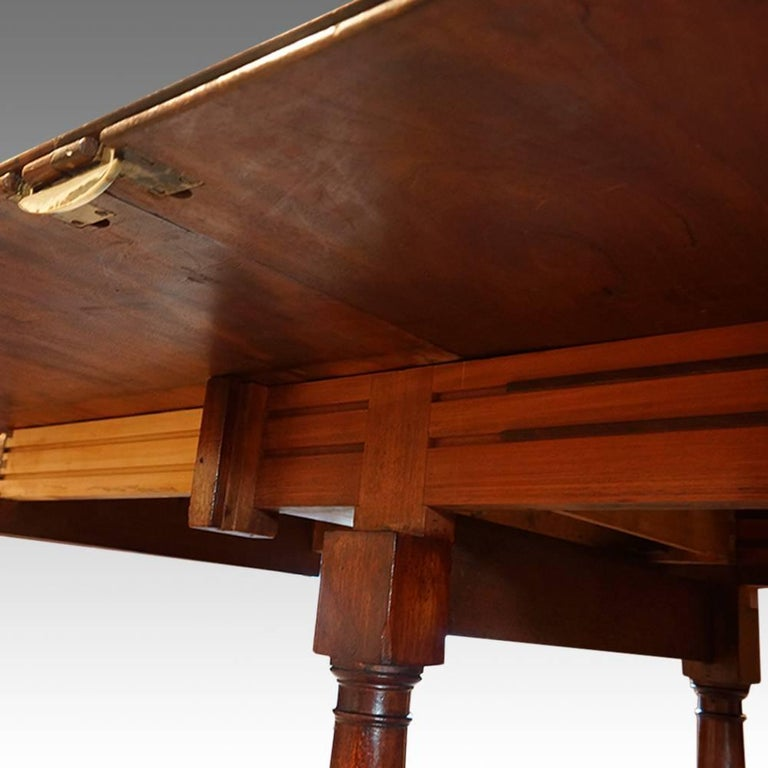 Regency Mahogany 14 Seat Extending Dining Table For Sale