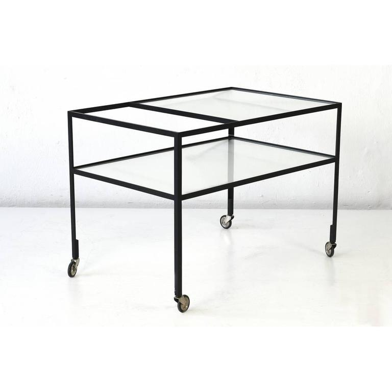 mid century bar carts of herbert hirche germany 1956 at. Black Bedroom Furniture Sets. Home Design Ideas