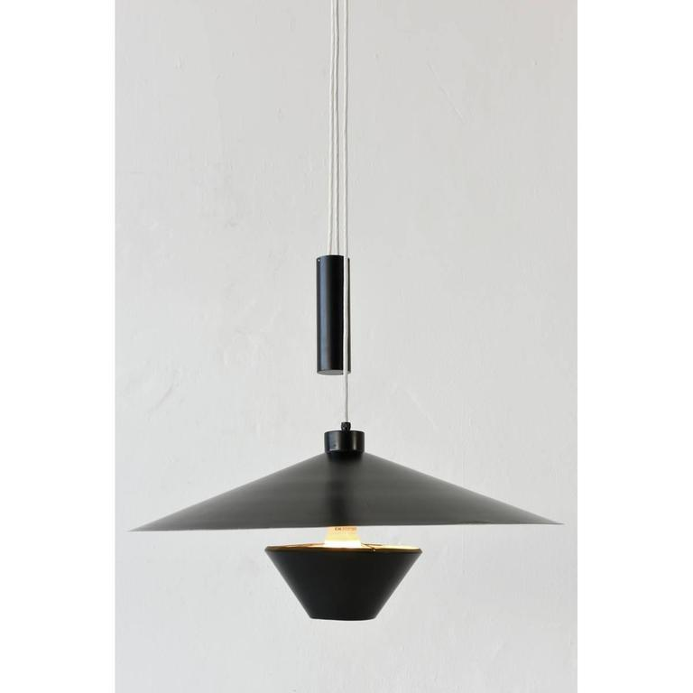 ultra rare baltensweiler up and down lamp for knoll. Black Bedroom Furniture Sets. Home Design Ideas