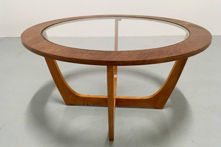 Mid-Century Modern Vintage Danish Round Coffee Table, circa 1970 For Sale