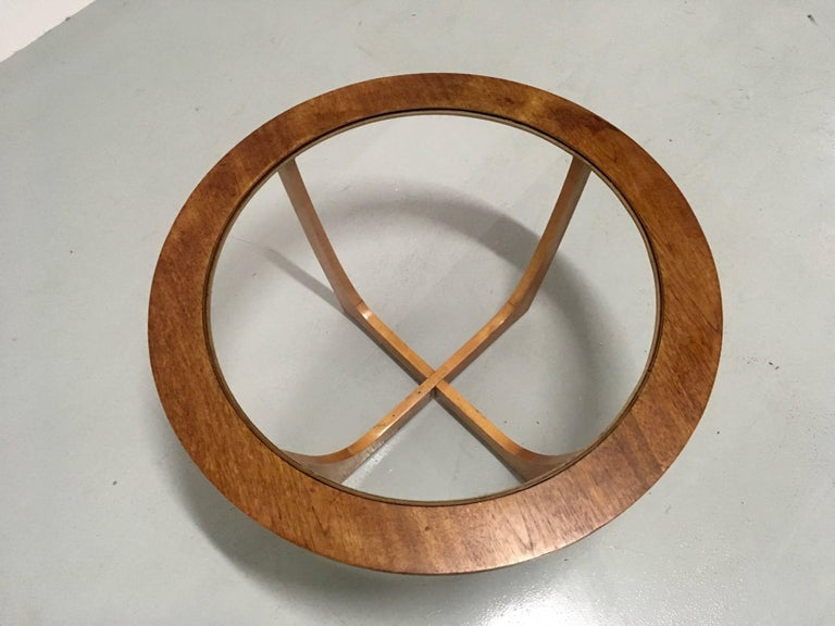 Teak Vintage Danish Round Coffee Table, circa 1970 For Sale