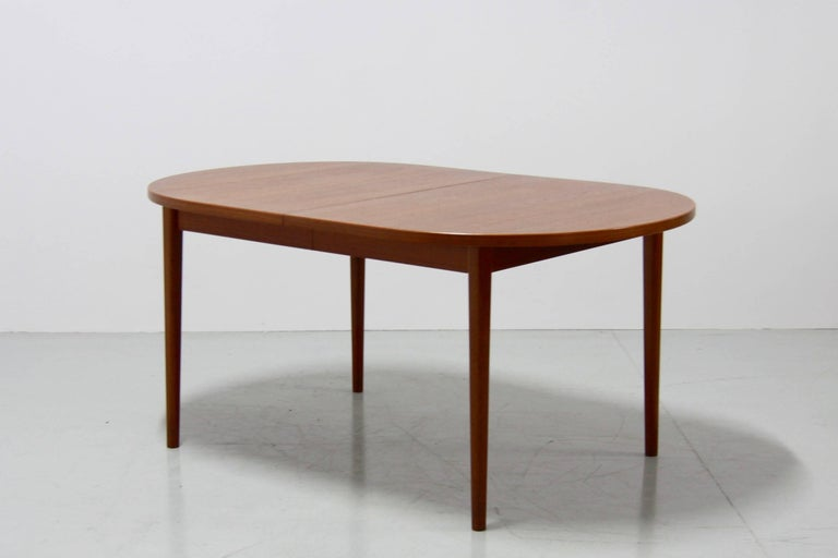 Vintage Double Extendable Teak Dining Table By Nils