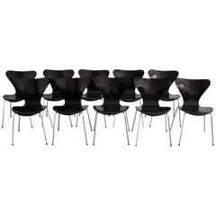 3107 Series Butterfly Chair by Arne Jacobsen for Fritz Hansen, 1968, Set of Ten