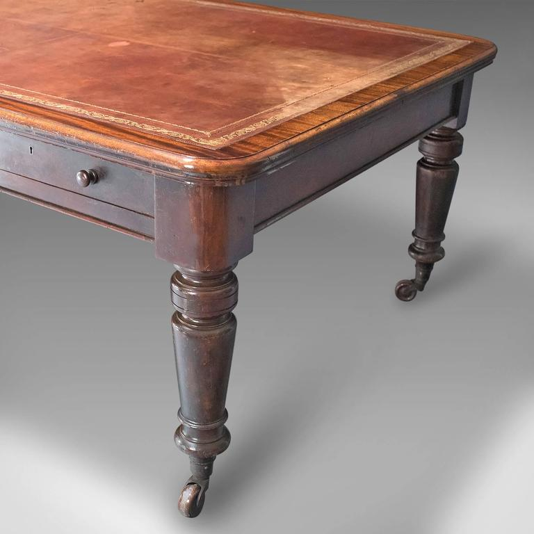Th Century Large Antique Library Table Victorian Boardroom For - Large boardroom table for sale