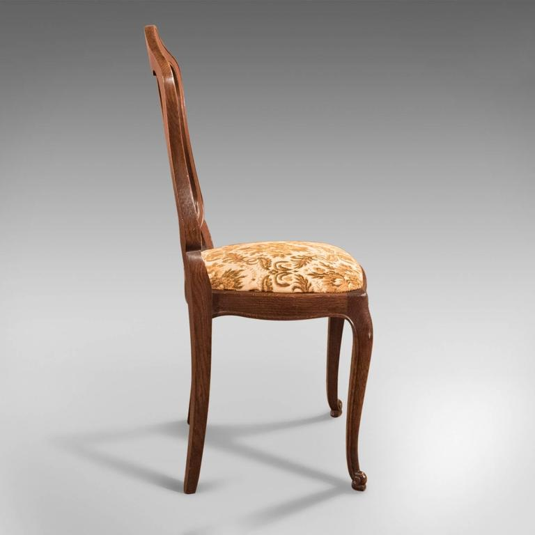 French Provincial Set of Six Antique French Dining Chairs, Country Oak, circa 1900