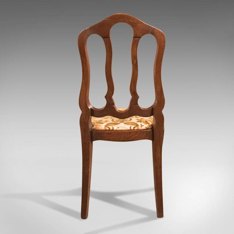 Set of Six Antique French Dining Chairs, Country Oak, circa 1900 In Good Condition In Hele, Devon, GB