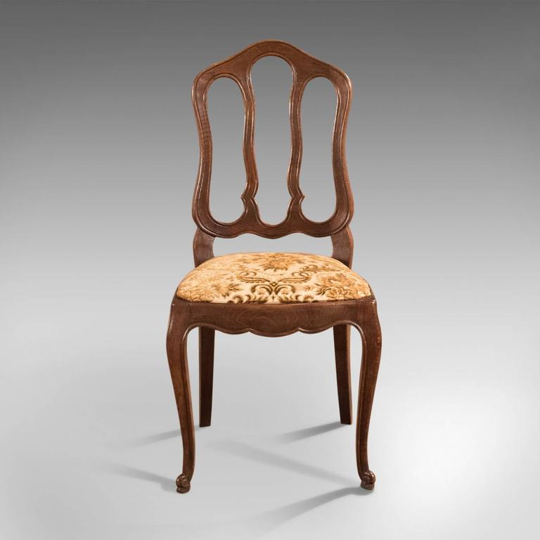 19th Century Set of Six Antique French Dining Chairs, Country Oak, circa 1900
