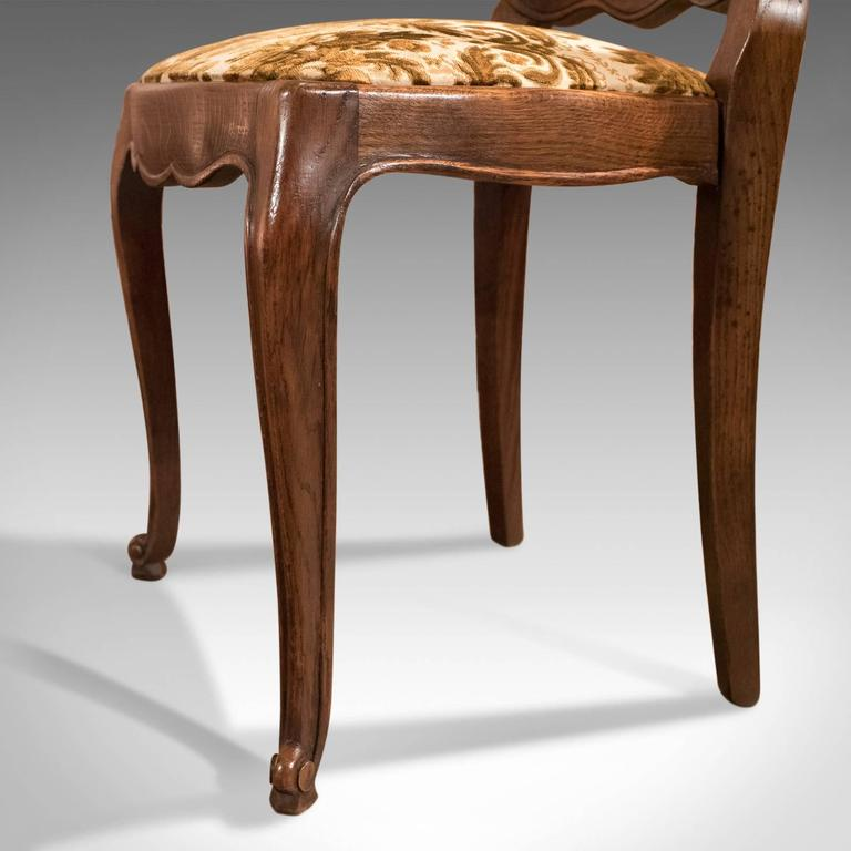 Set of Six Antique French Dining Chairs, Country Oak, circa 1900 5