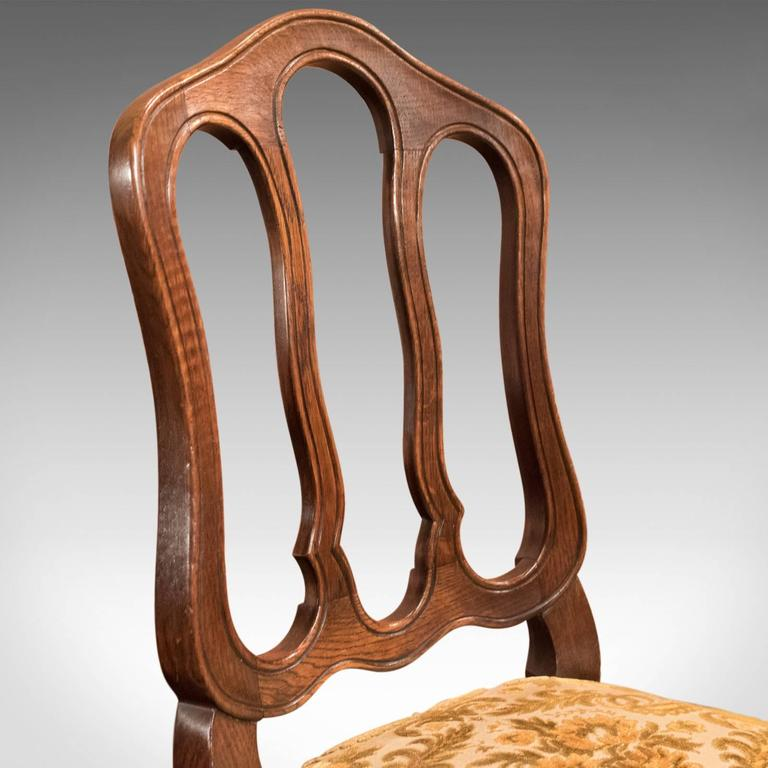 Set of Six Antique French Dining Chairs, Country Oak, circa 1900 2