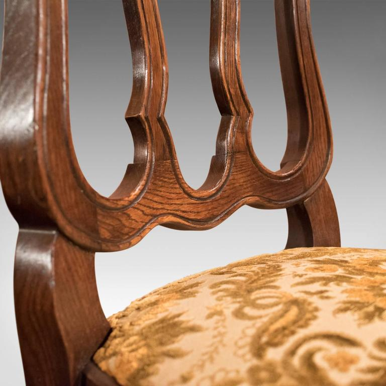 Set of Six Antique French Dining Chairs, Country Oak, circa 1900 3