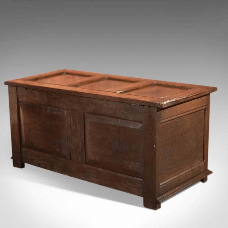 18th Century Antique Coffer, English Oak Furniture 3 - 18th Century Antique Coffer, English Oak Furniture At 1stdibs
