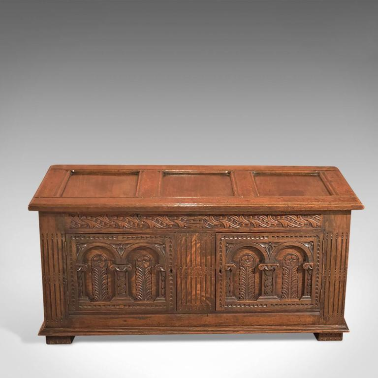 18th Century Antique Coffer  English Oak Furniture 2. 18th Century Antique Coffer  English Oak Furniture at 1stdibs